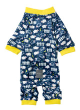 Counting Sheep Dog Cat Premium Pajamas Super Soft PJs Blue