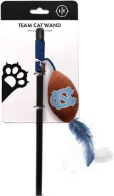 North Carolina Tar Heels Cat Football Toy Wand Interactive Teaser