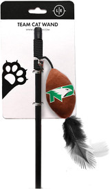 North Dakota Fighting Hawks Cat Football Toy Wand Interactive Teaser