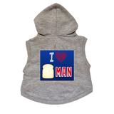 I Love Bread Man Dog Hoodie Premium Hockey Sweatshirt