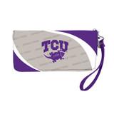 TCU Horned Frogs Curve Zip Organizer Wallet Wristlet