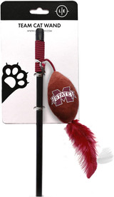 Mississippi State Bulldogs Cat Football Toy Wand Interactive Teaser
