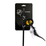 Chicago Blackhawks Cat Puck Toy Wand Interactive Teaser