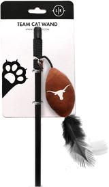 Texas Longhorns Cat Football Toy Wand Interactive Teaser