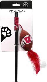 Utah Utes Cat Football Toy Wand Interactive Teaser