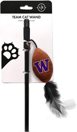 Washington Huskies Cat Football Toy Wand Interactive Teaser