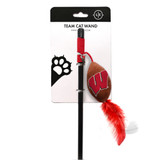 Wisconsin Badgers Cat Football Toy Wand Interactive Teaser