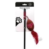 Virginia Tech Hokies Cat Football Toy Wand Interactive Teaser