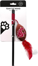 Washington State Cougars Cat Football Toy Wand Interactive Teaser