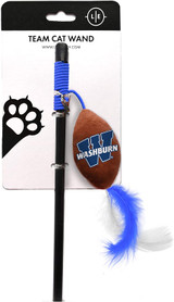 Washburn Ichabods Cat Football Toy Wand Interactive Teaser