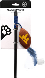 West Virginia Mountaineers Cat Football Toy Wand Interactive Teaser