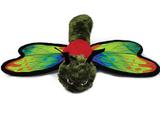 Ruffian Dragonfly Dog Toy Premium Tough Plush w/ Mini Tennis Ball