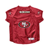 San Francisco 49ers Dog Deluxe Stretch Jersey Big Dog Size