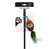 Green Bay Packers Cat Football Toy Wand Interactive Teaser