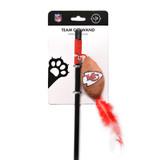 Kansas City Chiefs Cat Football Toy Wand Interactive Teaser
