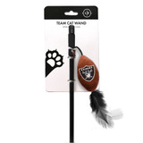 Las Vegas Raiders Cat Football Toy Wand Interactive Teaser