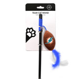 Miami Dolphins Cat Football Toy Wand Interactive Teaser