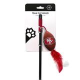 San Francisco 49ers Cat Football Toy Wand Interactive Teaser