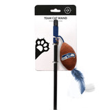 Seattle Seahawks Cat Football Toy Wand Interactive Teaser