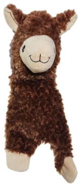 Alpaca Dog Toy Plush Buddy Flat Body w/ Crinkle