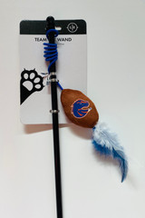 Boise State Broncos Cat Football Toy Wand Interactive Teaser
