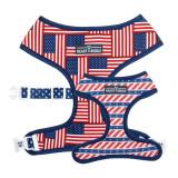 USA Flag Reversible Dog Harness Premium Vest