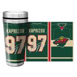 Kirill Kaprizov Minnesota Wild Jersey Travel Tumbler Mug 16oz