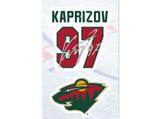 Kirill Kaprizov Minnesota Wild Decal Set w/ Facsimile Autograph