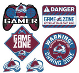 Colorado Avalanche Gamer Repositional Wall Decals 6pc Set Textured 12x14
