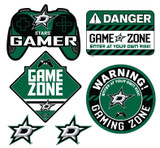 Dallas Stars Gamer Repositional Wall Decals 6pc Set Textured 12x14