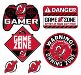 New Jersey Devils Gamer Repositional Wall Decals 6pc Set Textured 12x14