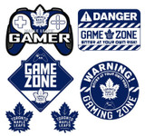 Toronto Maple Leafs Gamer Repositional Wall Decals 6pc Set Textured 12x14