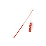 Sushi Cat Toy Wand Chopstick Teaser w/ Detachable Shrimp Catnip