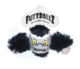 Fuzzballz Gorilla Dog Toy Mini Tennis Ball w/ Plush & Squeaker