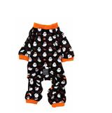 Spooky Ghost Dog Cat Premium Halloween Pajamas Soft PJs 2 Cute 2 Spook