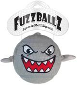 Fuzzballz Shark Dog Toy Jumbo Tennis Ball w/ Squeaker