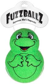 Fuzzballz Frog Dog Toy Wobbler Tennis Ball w/ Squeaker