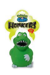 Honkers Dinosaur Dog Toy Premium Latex w/ Grunter