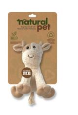 Natural Pet Cow Dog Toy Premium Soft Plush w/ Squeaker