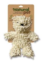 Natural Pet Bear Dog Toy Premium Soft Nubby Plush w/ Squeaker
