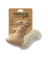 Natural Pet Squirrel Cat Toy Plush w/ Catnip