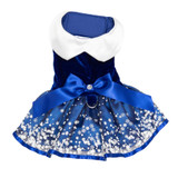Holiday Snowflakes Pet Dog Dress Harness w/ Matching Leash