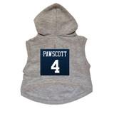 Pawscott #4 Dog Hoodie Premium Football Sweatshirt