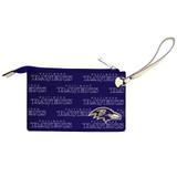 Baltimore Ravens Victory Wristlet Vegan Leather Wallet