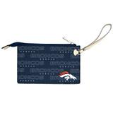 Denver Broncos Victory Wristlet Vegan Leather Wallet