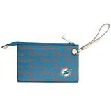 Miami Dolphins Victory Wristlet Vegan Leather Wallet