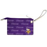 Minnesota Vikings Victory Wristlet Vegan Leather Wallet