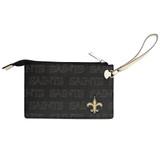 New Orleans Saints Victory Wristlet Vegan Leather Wallet