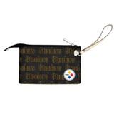 Pittsburgh Steelers Victory Wristlet Vegan Leather Wallet
