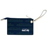 Seattle Seahawks Victory Wristlet Vegan Leather Wallet